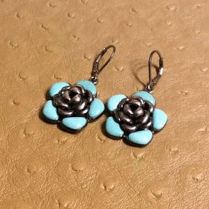 😍925 Silver & Turquoise Blossom Earrings😍